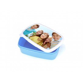 Sublimation Plastic Lunch Box (Light Blue) with insert