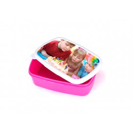 Sublimation Plastic Lunch Box (Purple Red) with insert