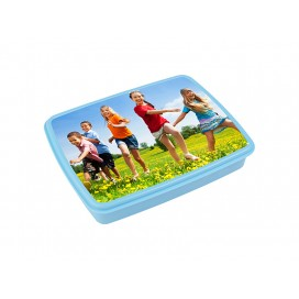 Plastic Lunch Box with Grid (Light Blue) with Insert