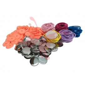 Button Badge Hair Band (32mm)