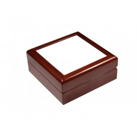 Jewelry Box w/o Ceramic tile(4*4, Maroon)