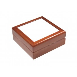 "Jewelry Box w/o Ceramic tile(6""x6"",Maroon)"