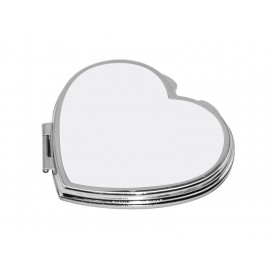Heart Shaped Compact Mirror( 6.5*5.9cm)