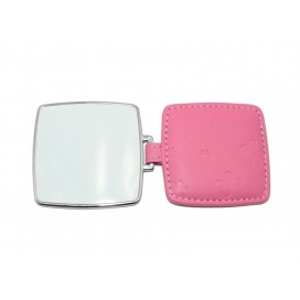 Square Hand Mirror with Leader Case