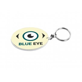 Oval Plastic Keychain 48*68mm