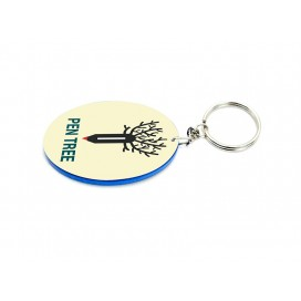 Oval Plastic Keychain 48*68mm(Color Edge)