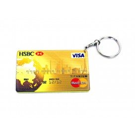 Credit Card Plastic Keychain 53*85mm(Color Edge)