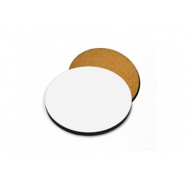 Hardboard Coaster with Cork(Round, 9.5cm)