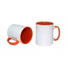 10oz Inner Rim Color Mug(Orange)