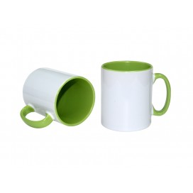 10oz Inner Rim Color Mug(Light Green)