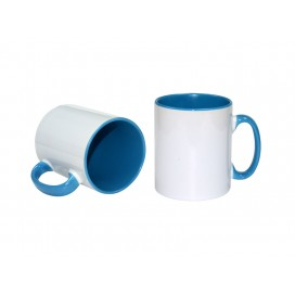 10oz Inner Rim Color Mug(Light Blue)
