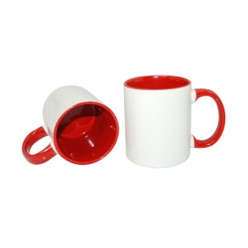11oz Inner Rim Color Mug-Red