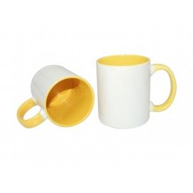 11oz Inner Rim Color Mug-Yellow