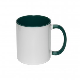 11oz Inner Rim Color Mug-Green