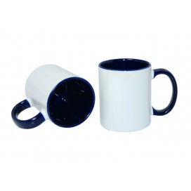11oz Inner Rim Color Mug-Blue