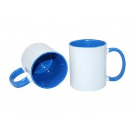 11oz Inner Rim Color Mug-Light Blue