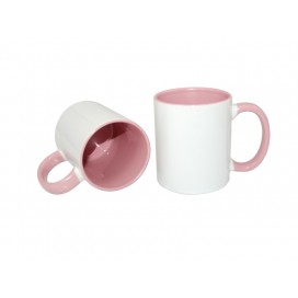11oz Inner Rim Color Mug-Pink