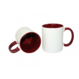 11oz Inner Rim Color Mug-Maroon