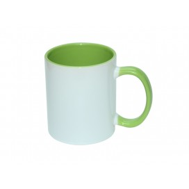 11oz Inner Rim Color Mug-Light Green