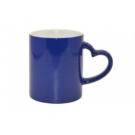 11oz Blue Color Changing Mug with Heart Handle