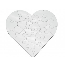 Heart Shape MDF Puzzle
